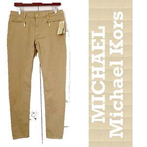 NEW MICHAEL Kors tan denim skinny jeans 12